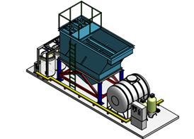 Hệ thống xử lý nước thải giặt là 60 m3/ngày