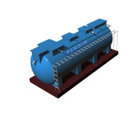 Module hợp khối xử lý nước thải sinh hoạt công suất 50 m3/ngày đêm chuẩn B
