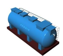 Module hợp khối xử lý nước thải sinh hoạt công suất 10 m3/ngày đêm chuẩn B