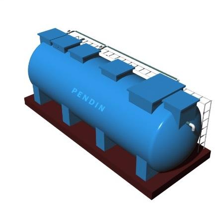 Module hợp khối xử lý nước thải sinh hoạt công suất 10 m3/ngày đêm chuẩn B0