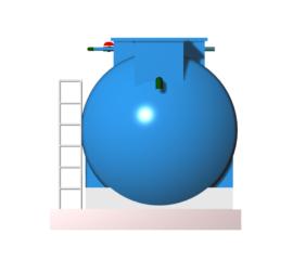 Module hợp khối xử lý nước thải sinh hoạt công suất 5 m3/ngày đêm chuẩn B