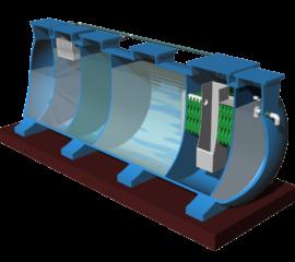 Module hợp khối xử lý nước thải sinh hoạt công suất 45 m3/ngày đêm chuẩn B