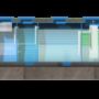 Module hợp khối xử lý nước thải sinh hoạt công suất 20 m3/ngày đêm chuẩn B3